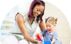 behavioral skills therapist working with child